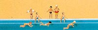 Preiser N Children at the pool, LIST PRICE $14.99