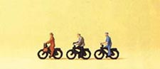 Preiser People riding bicycles 3/, LIST PRICE $18.99