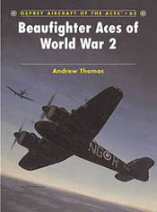 Osprey Publishing BEAUFIGHTER ACES of WW-II, LIST PRICE $22.95