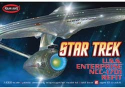 Polar Lights Kits 1/1000 USS Enterprise NCC-1701A, LIST PRICE $29.69