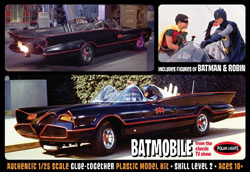 Polar Lights Kits '66 BATMOBILE W/robin Fig 1:25, LIST PRICE $40