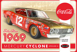 Polar Lights Kits 1:25 Bobby Allison 1969 Coca Cola Mercury Cyclone, LIST PRICE $32.09