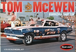 Polar Lights Kits Tom Mongoose McEwen Barracuda Funny Car F/C 1:25, LIST PRICE $33.19