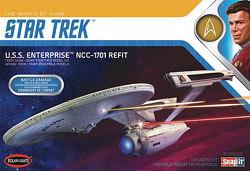 Polar Lights Kits 1:1000 Star Trek U.S.S. Enterprise Refit Wrath of Khan Ed, DUE 1/30/2020, LIST PRICE $31.99