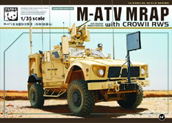 Panda Models M-ATV MRAP W/crow II RWS 1:35, LIST PRICE $59.99
