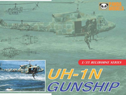Panda Models UH-IN HUEY GUNSHIP 1:35 , LIST PRICE $59.99