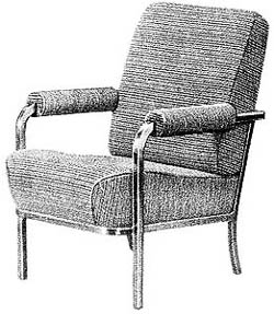 Red Cap Line HO Lounge Chairs HW630P/12, LIST PRICE $5.95