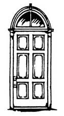 Scale Structures HO Colonial arch door     2/, LIST PRICE $8.99