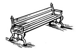 Scale Structures HO Cast iron bench        2/, LIST PRICE $6.99