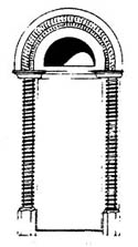 Scale Structures HO Curved arched door     2/, LIST PRICE $8.99