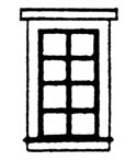 Scale Structures HO Dbl hung 8-pane window 2/, LIST PRICE $8.99