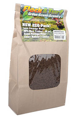 Scenic Express Flock & Turf Ground Cover ECO Bag Coarse Light Brown 48oz, LIST PRICE $8.98
