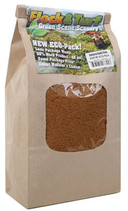 Scenic Express Flock & Turf Ground Cover ECO Bag Autumn Gold Fine 48oz, LIST PRICE $8.98