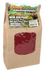 Scenic Express Flock & Turf Ground Cover ECO Bag Autumn Red Coarse 48oz, LIST PRICE $8.98