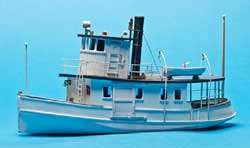 Sea Port HO 53' Coastal Passenger Steam Ferry Kit, LIST PRICE $98.95