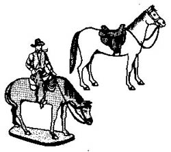 Selley COWBOY & TWO HORSES, LIST PRICE $4.9