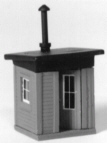 Stewart Products HO Trackside shanty w/stove, LIST PRICE $11.45