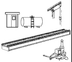 Stewart Products HO Diesel Service Facility, LIST PRICE $74