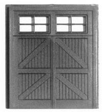 Smalltown HO 10X9 Hinged Freight Door (2 each), LIST PRICE $3.25