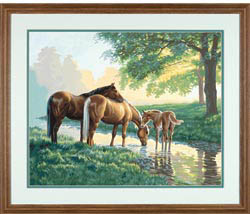 Paint Works HORSES by A STREAM            , LIST PRICE $19.5