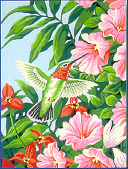 Paint Works HUMMINGBIRD & FUCHSIAS Beginnr, LIST PRICE $8.79