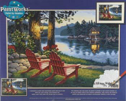 Paint Works ADIRONDACK EVENING Lg         , LIST PRICE $19.5