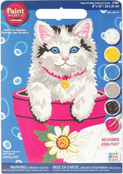 Paint Works Flower Pot Kitten Beginner, LIST PRICE $8.79