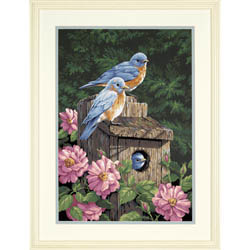 Paint Works GARDEN BLUEBIRDS Lg, LIST PRICE $19.5