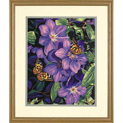 Paint Works CLEMATTS & BUTTERFLIES Med, LIST PRICE $12