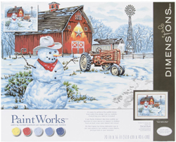 Paint Works Country Snowman Lg, LIST PRICE $19.5
