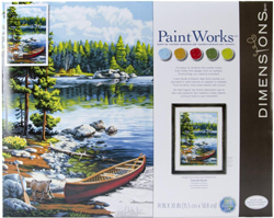 Paint Works CANOE By The LAKE Lg, LIST PRICE $19.5