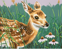 Paint Works FAWN and FLOWERS, LIST PRICE $12