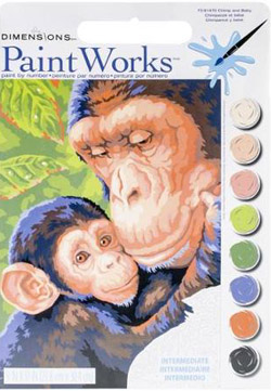Paint Works Chimp and Baby, LIST PRICE $9