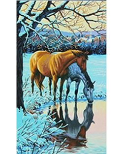 Paint Works Horses at Stream Lg, LIST PRICE $19.99