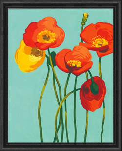 Paint Works Colorful Blooms PBN 11x14, LIST PRICE $13