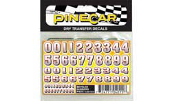 Pine Pro Beveled Numbers Dry Transfer, LIST PRICE $3.99