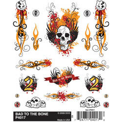 Pine Pro Dry Transfer Decals, Bad To The Bone, LIST PRICE $5.99