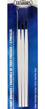 Testors 3 PC Economy Assorted Brush Set 12pk, LIST PRICE $2.13