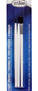 Testors 3 PC Economy Assorted Brush Set 12pk, LIST PRICE $2.47