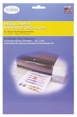 Testors Clear Decal Paper 12pk, LIST PRICE $12.42