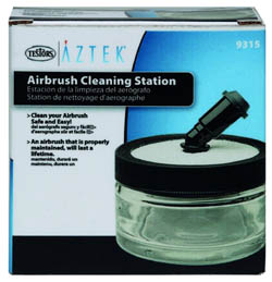 Testors Aztek Accsry CLEANING STATION 3, LIST PRICE $31.6