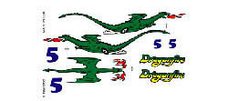 Pine Car DRAGONFIRE DECAL , LIST PRICE $3.99
