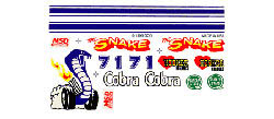 Pine Car COBRA DECAL , LIST PRICE $3.99