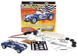 Pine Car BLUE VENOM Prem CAR Kit , LIST PRICE $15.99