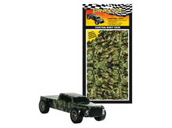 Pine Car CAMOUFLAGE BODY SKIN , LIST PRICE $7.49