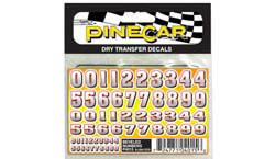 Pine Car BEVELED NUMBERS DT , LIST PRICE $3.99