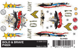 Pine Car BOLD & BRAVE DRY TRANSFER     , LIST PRICE $3.99