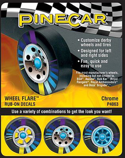 Pine Car Chrome Wheel Flare, LIST PRICE $3.99