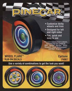 Pine Car Cyclone Wheel Flare, LIST PRICE $3.99