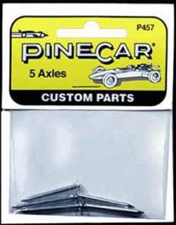 Pine Car AXLES , 5 Nails , LIST PRICE $1.99
